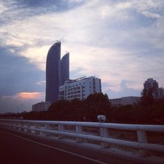 first time see the #sunset of #xiamen ... Picture taken in June 9th ...