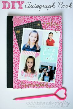 DIY Autograph Book with MyPrintly   Giveaway! from Occasionally Crafty