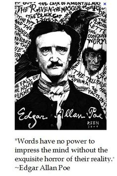 """""""Horror""""-ible thoughts from Edgar Allen Poe for #halloween #quotes"""