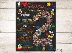 Mickey Mouse Birthday Chalkboard Sign, Two Year Chalkboard, Birthday Chalkboard Boy, Birthday Sign, Mickey Mouse Party Decor Birthday Photo Collage, 2nd Birthday Photos, Photo Collage Gift, 3rd Birthday, Birthday Ideas, Mickey Mouse Clubhouse, Mickey Mouse Birthday, Best Friend Photos, Best Friend Gifts