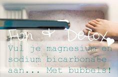 Een super gezond voetenbad, op basis van CO2, magnesium en baking soda. Vul je mineralen aan en start met de detox!