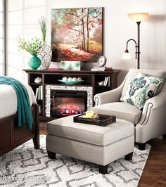 Make your bedroom cozy and comfortable with an accent chair to relax at the end of the night. You don't have to break the bank to make your room a master suite. Choose from over 100 accent chairs for under $500.