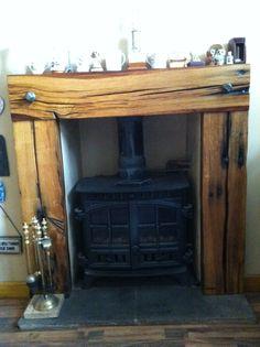 Dream fireplace #railway #sleepers