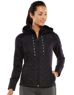 3a20082536158 Women s FILA SPORT¨ Run Swift Quilted Fleece-Lined Hooded Jacket. Kohl s