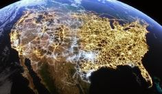 U.S. electricity network routes; via America Revealed, a new show on PBS