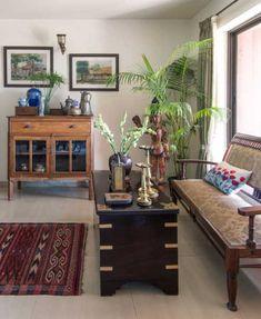 Furniture Layout, Vintage Furniture, Furniture Design, Room Corner, Old Wall, Wood Blocks, Plates On Wall, Sofa Set, Contemporary Furniture