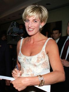 June 23, 1997: Diana, Princess of Wales arrives at Christies Auction In New York City for the sale of her 79 dresses.