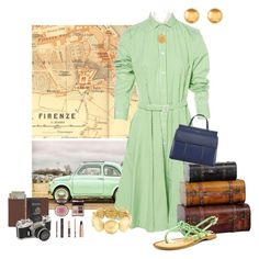 """""""Ride a Fiat Through Italy contest"""" by empathetic ❤ liked on Polyvore featuring Polo Ralph Lauren, Liz Claiborne, Orit Elhanati, Naughty Monkey, Charlotte Tilbury, Tory Burch and Royce Leather"""