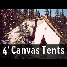 Prospector wall tent made from 10oz treated canvas. Built in Fort McPherson Northwest Territories, this tent is able to withstand the coldest arctic winter. Treated to be fire and mildew resistant.These are our 4 foot canvas wall tents. 5' tents are also available.