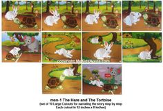 Play School Story – Hare and Tortoise story for preschoolers Rabbit And Tortoise, Hare & Tortoise, English Stories For Kids, English Lessons, Play School Toys, Free Educational Apps, Education Logo Design, Boarders And Frames, Sequencing Activities