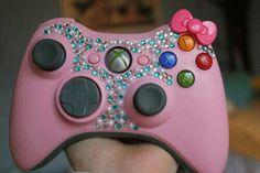 Pink Hello Kitty Rhinestone Xbox Controller