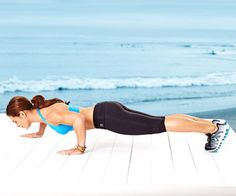 Jillian Michaels' Amazing Arm Workout-staggered push-up