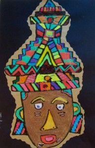 Aztec Masks - Georgetown Elementary 2nd Grade