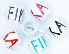 New FIKA collection in shops now! A new colourful collection of home accessories! Trays, coffee cups, tea towels and more! Www.ilovedesign.net
