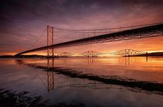 FEATURED PHOTOGRAPHER OF THE WEEK Fujifilm X-E2 user @davidqueenan thought he was going to have a disappointing shoot at Port Edgar South Queensferry when the pre-dawn light looked weak. But then the sun burst through and lit up the bridges beautifully giving him enough time to capture this shot using the Velvia film simulation mode #fujifilm #xe2 #landscape #queensferry #bridges #portedgar #dawn #sunrise #goldenhour #scotland #velvia via Fujifilm on Instagram - #photographer #photography…