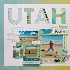 """Scrapbox: Scrapbook Layout """"Utah"""""""
