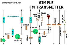 Simple FM Transmitter Electronics Projects, Electronic Circuit Projects, Hobby Electronics, Electrical Projects, Electronic Engineering, Electrical Engineering, Electrical Installation, Radios, Hifi Amplifier