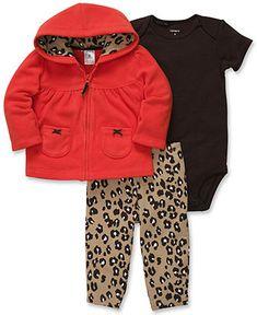 Carter's Baby Set, Baby Girls 3-Piece Cardigan, Bodysuit and Pants - Kids Newborn Shop - Macy's
