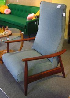 milo baughman recliner lounge chair mid century modern vintage