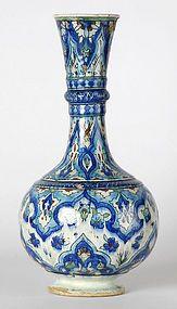 Islamic Iznik-Style Pottery Bottle Vase, c. 1900.