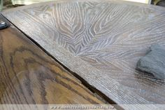 cerused oak dining table via Addicted to decorating.