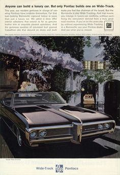 "Pontiac was all about ""wide-track"" in 1968."
