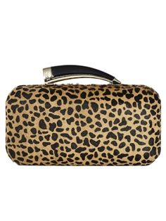 Vince Camuto Horn Clutch in Dot Camel