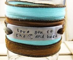 Wrap Bracelet Love You To The Moon And Back by MudandRoses on Etsy, $24.00