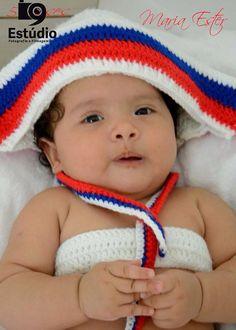 Marinheira linda essa minha filha....com 5 meses roupa eu q fiz em crochê