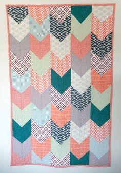Arrow Quilt,Twin Quilt Pattern, Digital Quilt Pattern, Easy ... : nursery quilt patterns - Adamdwight.com