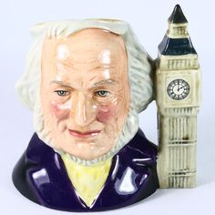 "Royal Doulton ceramic Toby mug, ""John Doulton"" #D6665: 4 1/4"" high - Aunt Bebe's Mercantile Emporium"