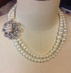 Handmade bridal necklace by Serket Jewelry
