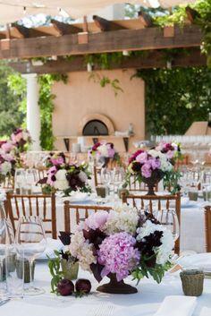 pretty summer wedding #whitetablecloths #lavender #purple #beautiful #weddingday