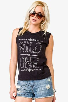 Forever 21 Wild One Muscle Tee