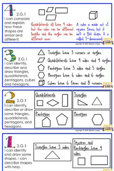 Find these 2nd Grade GEOMETRY Posters for FREE. Modeled after Marzano Scales. Common Core Math.