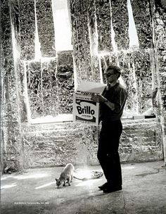 Andy Warhol at The Factory, New York, 1964