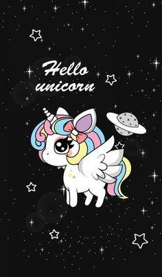 Cute Phone Wallpapers Of Unicorns Unicorn Painting, Unicorn Drawing, Unicorn Art, Cute Unicorn, Pink Unicorn Wallpaper, Unicorn Backgrounds, Unicornio Poster, Kawaii Drawings, Cute Drawings