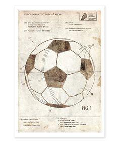 Another great find on #zulily! Soccer Ball 2012 Parchment Art Print #zulilyfinds