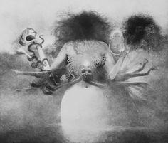 the sunny side of dark Art and the Odd Dark Fantasy Art, Dark Art, Creepy Pictures, Arte Horror, Psychedelic Art, Dark Souls, Pencil Illustration, Skull Art, Painting & Drawing