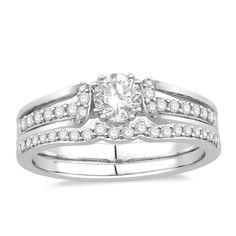 14K White Gold Oriana Bridal diamond wedding set   Rogers Jewelry Co.