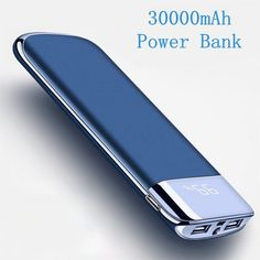 Collectibles American 2019 Latest Design 30000mah Power Bank External Battery Poverbank 2 Usb Led Powerbank Portable Mobile Phone Charger For Xiaomi Mi Iphone 7 8 Xsmas Delicacies Loved By All