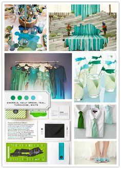 greenbluewhite wedding-colors