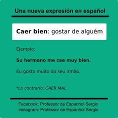 Aprender espanhol #espanholparabrasileiros Study Spanish, How To Speak Spanish, Learning Spanish, Portuguese Lessons, Learn Portuguese, Spanish Grammar, Spanish Language, Learn English, Languages