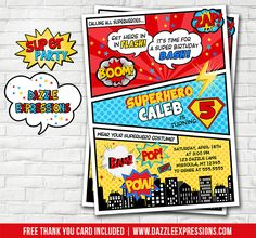 Free Superhero Invitation Templates - Invitation Templates - Visit ...