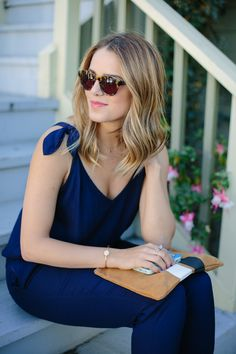 Love this jumpsuit via Gal Meets Glam