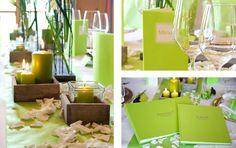 Tischdeko für die Hochzeit in Grün - weddix
