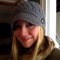 Womans Cotton News boy Hat by threekittensknitting on Etsy, $24.00