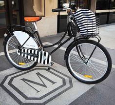 Stripe black & white bike by Republic Bikes