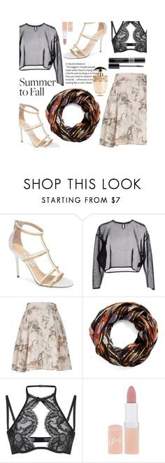 """Summer to fall look"" by cstarzforhome ❤ liked on Polyvore featuring Jimmy Choo, Yves Saint Laurent, Melissa McCarthy Seven7, Vera Bradley, Agent Provocateur, Rimmel, Christian Dior, Prada and plus size clothing"
