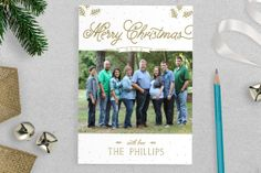 Merry Christmas Photo Christmas Card by ExpressPress on Etsy